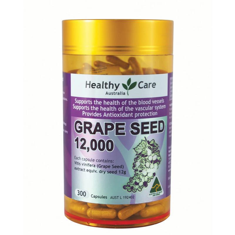 ผลการค้นหารูปภาพสำหรับ Healthy Care Grape Seed 58000 mg